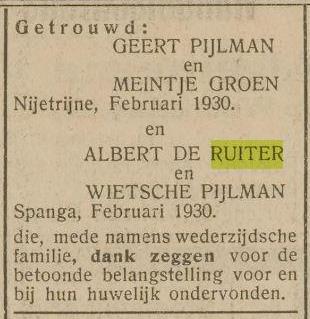 Genealogie De Ruiter